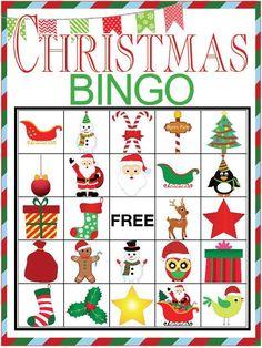 Christmas BINGO printable game - Our Thrifty Ideas Christmas Bingo Printable, Christmas Bingo Cards, Printable Bingo Games, School Christmas Party, Christmas Party Games, Christmas Activities, Holiday Fun, Free Printable, Cheap Christmas Gifts