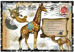 Artist Inspiration - Nick Bantock - Mail Art by Ozstuff Collages, Collage Artists, Mail Art Envelopes, Decorated Envelopes, Envelope Art, Lost Art, Art Graphique, Letter Art, Mix Media
