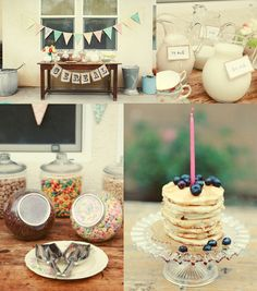 breakfast party. So cute for a shower or girl day!
