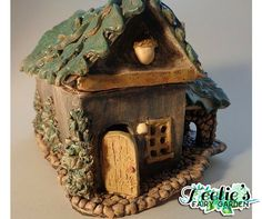 Fairy Garden Hunting Lodge. www.teeliesfairygarden.com . . . This gorgeous fairy garden hunting lodge is perfect for fairies who loves to stay in the woods! #fairyhouse