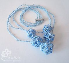 Tatting Pattern 3D Dodecahedron Necklace by JTatter on Etsy
