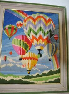 Beautiful Hot Air Balloon Cross Stitch - Great colors and condition from #OutstandingBooks