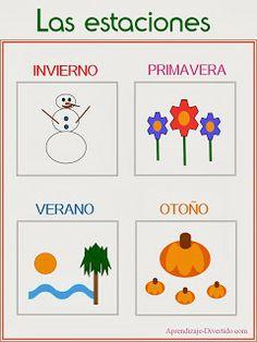 Aprendizaje Divertido: Imprimible: Las estaciones del año