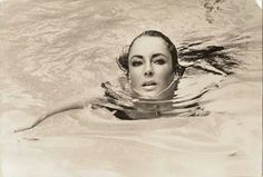 Elizabeth Taylor swimming in Puerto Vallarta, Mexico.