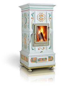 Ceramic wood stoves by La Castellamonte.
