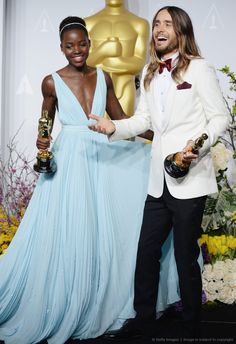 Jared Leto and Lupita Nyong'o - 86th Annual Academy Awards