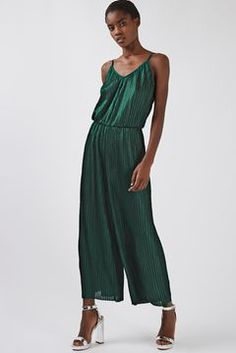 **Plisse Strappy Jumpsuit by Glamorous Tall