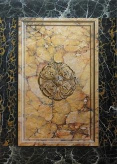 Painted Marble sienna class panel & Trompe l