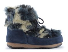 Śniegowce moon boot low fur blu