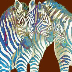 Zebras Drawing - Zebra - Stylised Drawing Art Poster by Kim Wang