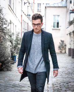 #ootd #ootdmen #street #streetstyle #stylemen #look #style #fashion #men #menswear #menstyle #mensstyle #menfashion #mensfashion #instafashion #instadaily #fashionpost #allsaints #denim #blackoutfit #greyoutfit #greycoat #blackdenim #layers #knitwear #boots #militaryboots #loding #texture #greysweater