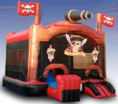 Ahoy all you landlubbers! Walk the plank in our very popular Blackbeard the Pirate Bounce and Slide. Bounce, climb, crawl, slide and play basketball all in one! Children love our zippy slide and the tunnel under the slide. A sure fire hit at any event!