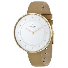 Shop for Skagen Women's Gitte Quartz 2 Hand Stainless Steel Light Brown Watch. Get free delivery On EVERYTHING* Overstock - Your Online Watches Store! Skagen Watches, Online Watch Store, Casual Watches, Stainless Steel Case, Quartz, Beige, Lady, Brown, Leather