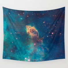Wall Tapestry Nebula Galaxy Hanging - Small Medium Large - Gift Cute Dorm Picture Indoor Outdoor Space Celestial Sky Stars Tapestries Wall Absolutely wonderful NASA picture that gives accent to any room.  - highly unique and versatile - hand-sewn finished edges - 100% lightweight polyester - durable enough for both indoor and outdoor use. - Machine washable with cold water on gentle cycle using mild detergent - tumble dry with low heat. - no actual sparkles or glitter, flat print of…