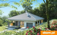 Small Bungalow, Bungalow Homes, Bungalow House Plans, Bungalow House Design, Small House Design, Small House Plans, Modern Color Schemes, Modern Colors, Modern Architecture