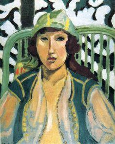 "artist-matisse: "" Woman with Oriental Dress via Henri Matisse Size: 40.8x32.7 cm"""