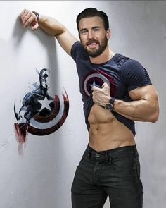 Chris Evans Abs Workout, Workout Routine and Diet Plan Boys Lindos, Fitness Before After, Christopher Evans, Chris Evans Captain America, Captain America Body, Captain America Workout, Captain America Costume, Robert Evans, Man Thing Marvel