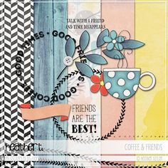 Free Coffee and Friends Mini Kit from Heathert | Oscraps Black Friday Blog Hop