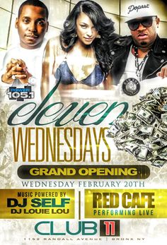 The Grand Opening Of Eleven Wednesdays @ Club Eleven Wednesday February 20, 2013