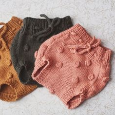 Sweet Hand Knitted Baby Bloomers | bumblegoosie on Etsy