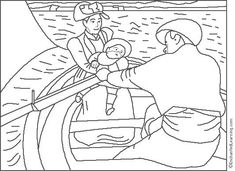 Mary Cassatt-Boating Party coloring page