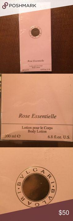 🌹Rose Essentielle Lotion by BULGARI, BVLGARI New in box still plastic sealed... BULGARI (BVLGARI) Rose Essentielle Body Lotion (Lotion pour le Corps) 200 ml, 6.8 fl oz. make an offer Bulgari Makeup