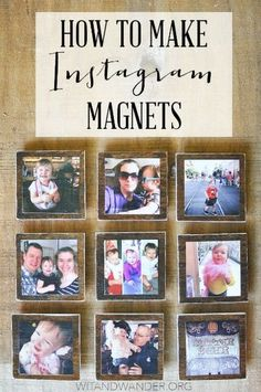 Instagram Magnets from Wit and Wander and 31 DIY Christmas Gift Ideas on Frugal Coupon Living.