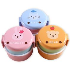 Japanese Cartoon Plastic Lunchboxes For Kids Bento Box Storage Food Container