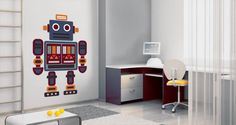 A wall decal for the little ones: i-Robot - the newest addition to our collection. Turn your kid's room into an original space with this playful decal! Starts at $38.