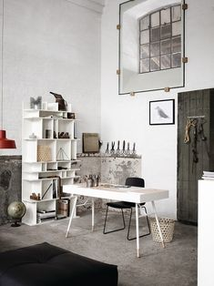 Charmant 25 Awesome Rustic Home Office Designs