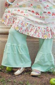 Swanky Baby Vintage - Kayla's Comfy Ruffles Mint Julep-mylittlejules.com