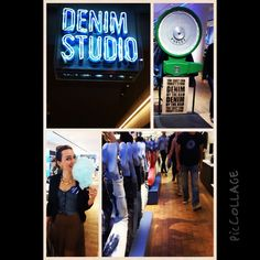 Denim studio at Selfridges, party with ElleUK. Amazing place, it's all about the denim. Jeans sold by the kg, personalised pockets, tailored jeans and much more. Definitely a place for a good shopping session.