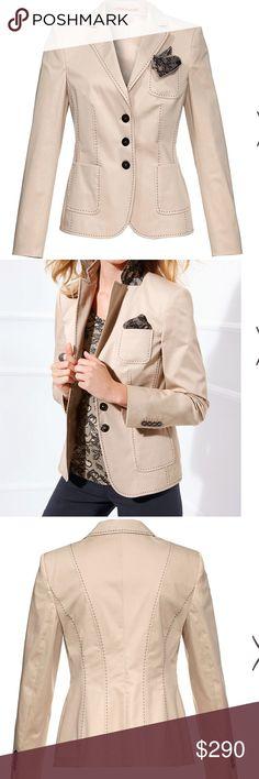 Gorgeous Basler blazer.  Sand. Never worn. Basler Jackets & Coats Blazers