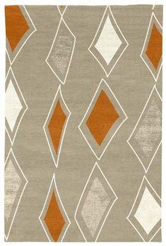 Judy Ross Hand-Knotted Custom Wool Cascade Rug oyster/cream/melon/oyster silk