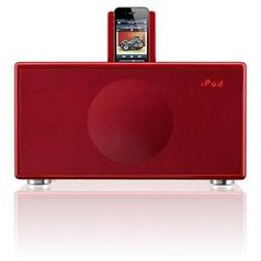 GenevaSound M All-in-One Stereo for iPod, iPhone, Radio, Line-in - Medium (Red) 1 of 4 Black And White Office, Black And White Colour, Ipod, All In One, Medium, Color, Shopping, Colour, Ipods