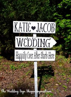Large Wedding Sign Directional Rustic Wedding Signs Happily Ever After Personalized Arrows Direction Outdoor Wooden Stake Marker Wood Beach