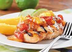 Serve this healthy grilled chicken recipe at your next barbeque or picnic. It makes a great substitute for fried chicken or bratwursts. Your guests will appreciate a healthier option and will enjoy this slightly sweet and citrusy dish.