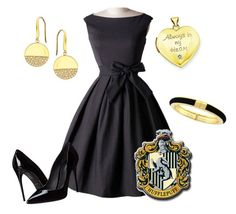 """""""Hufflepuff Yule Ball Outfit IX"""" by getmetohogwarts ❤ liked on Polyvore featuring Dolce&Gabbana, Kevin Jewelers, Lana, Vince Camuto, women's clothing, women's fashion, women, female, woman and misses"""