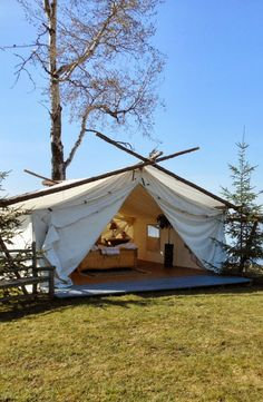 Luxury Prospectors Tents in the Boreal Forest & Glamping Tents Australia | Luxury Tent Camping | Eco Structures ...