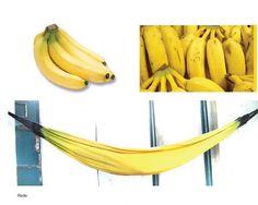 Rede com estampa de banana