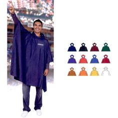 WATERPROOF VINYL PLASTIC LIGHTWEIGHT ADULT PONCHO WITH HOOD SIZE 52 x 80 INCH