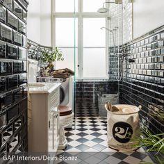 Elegant Badezimmer Schwarz Weiß Einrichten