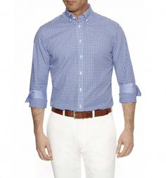 Brighter colours for Spring/Summer - http://www.hackett.com/men/shop-by-product/ss14-collection/edged-check-shirt?color=117