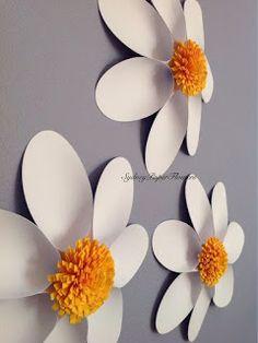 Moldes y tutorial para aprender cómo hacer flores gigantes decorativas ~ Mimundomanual