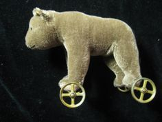 Vintage Margaret Steiff Bear On Wheels 1984 Replica by ShopOlga, $145.00