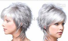Fashion Women's Short Hair Wig Silvery White Online with $120.42/Piece on Lili614's Store | DHgate.com