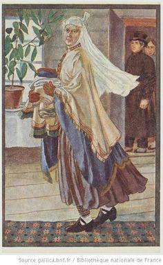 Latvia national dresses. [28 cartes postales de Lettonie représentant des costumes folkloriques et une carte du pays, 1926] Alsunga, Kurzeme