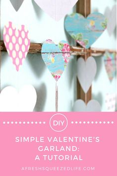 Valentine's Day is just around the corner and it's time to start crafting! Let me show you how to make this simple Valentine's Garland!