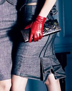Sexy red gloves!
