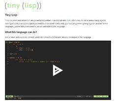 WebDesign Un compilateur Lisp écrit en JavaScript - Tiny-Lisp  Tiny-Lisp est un compilateur Lisp écrit en JavaScript et Jison.   http://www.noemiconcept.com/index.php/fr/departement-communication/news-departement-com/207245-webdesign-un-compilateur-lisp-%C3%A9crit-en-javascript-tiny-lisp.html